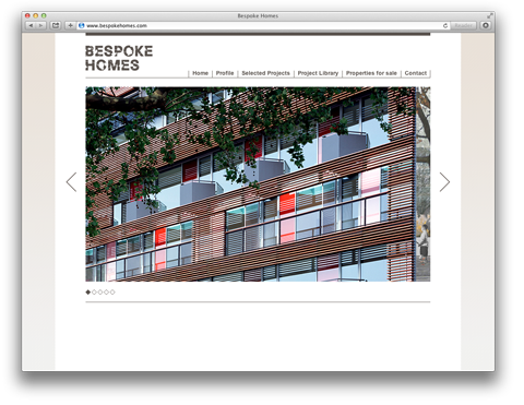 Bespoke Homes screenshot