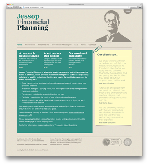 Jessop Financial Planning website screenshot