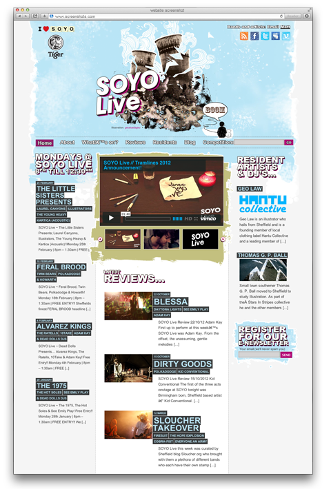 SOYO Live website screenshot