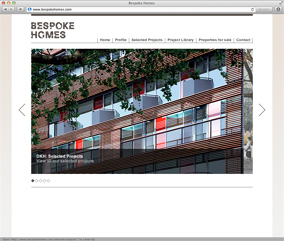 Bespoke Homes website screenshot