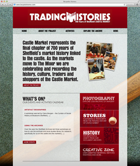Sheffield Castle Market website screenshot