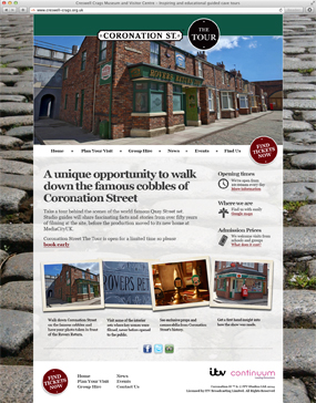 Coronation Street the Tour website screenshot