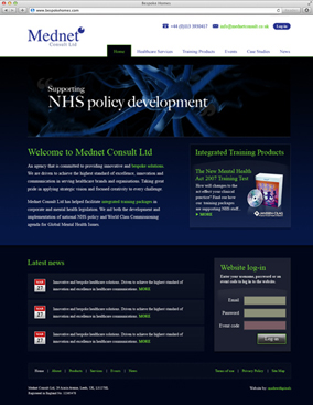 Mednet Consult website screenshot