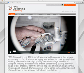 PMS Diecasting website screenshot
