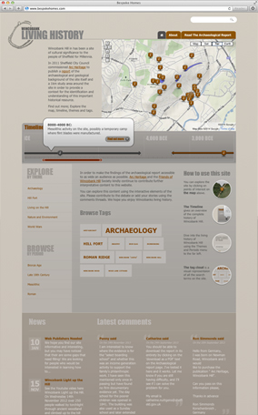 Wincobank Living History website screenshot